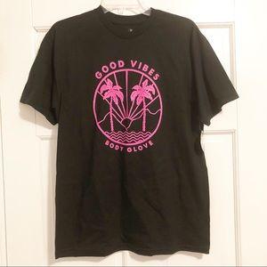 BODY GLOVE Mens Black/ pink good vibes t-shirt NWT